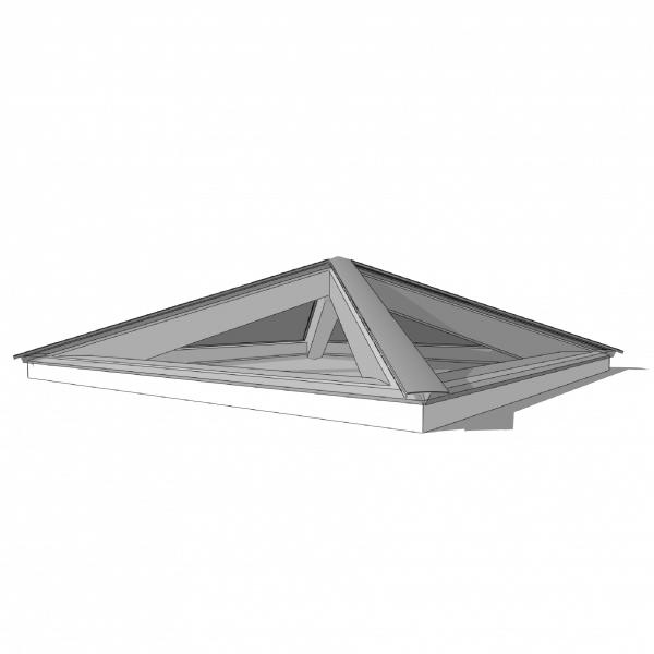 Lichtstraat piramidedak 2500 x 2500 HR++ veiligheidsglas