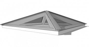 lichtstraat piramide dak